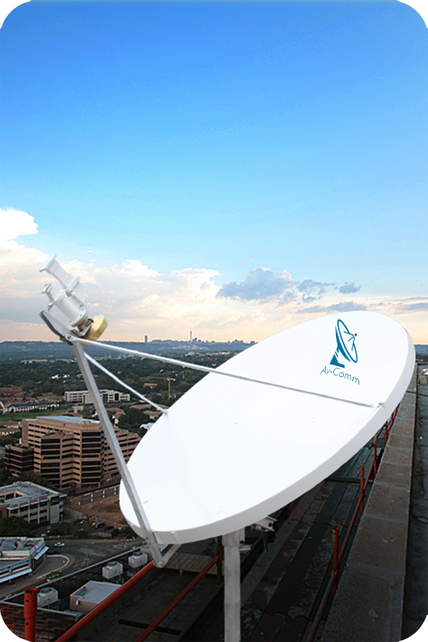 suman 1 8m c band vsat satellite dish av comm