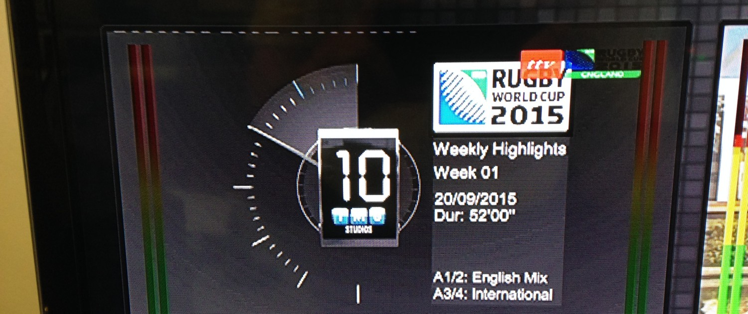 Rugby World Cup coverage countdown