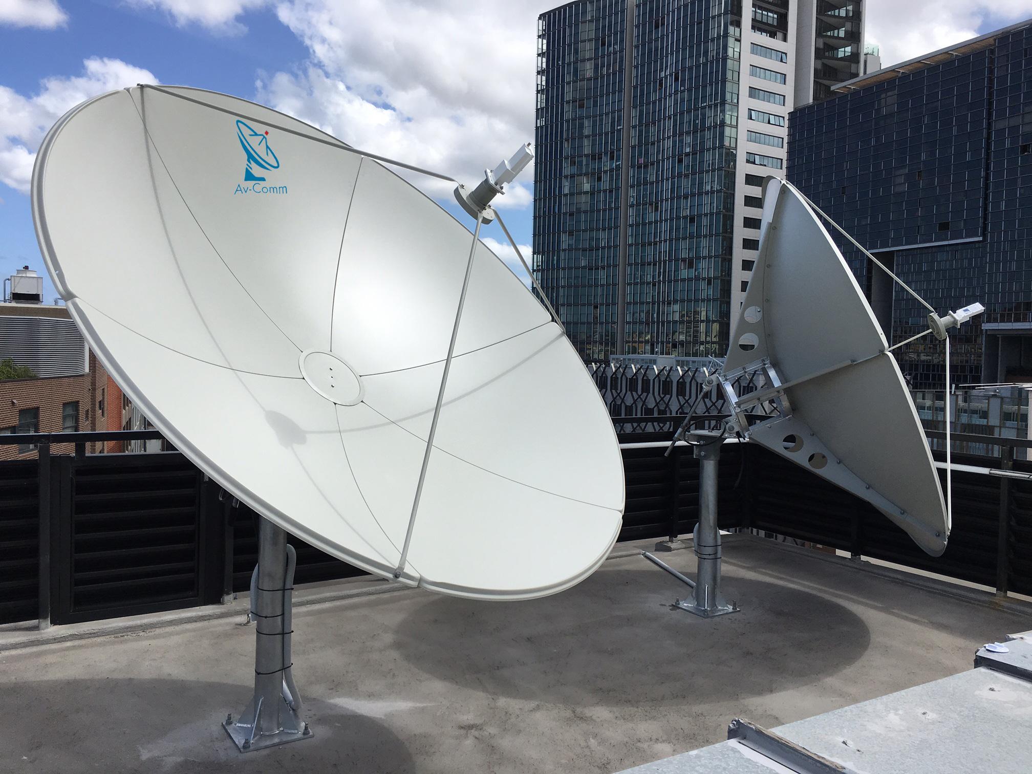 Suman 24m C Band Satellite Dish Av Comm