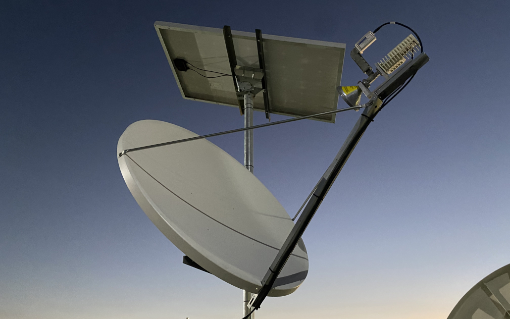 Av-Comm's Solar Powered Ku band satellite system